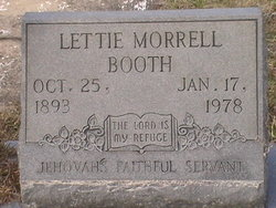 Lettie <i>Morrell</i> Booth