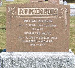 Henrietta <i>Watts</i> Atkinson