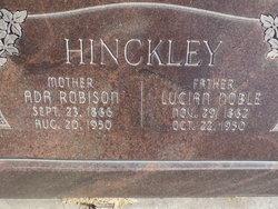 Martha Ada Ada <i>Robison</i> Hinckley