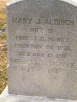 Mary Jane <i>Aldrich</i> Mowry