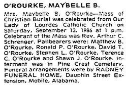 Maybelle <i>Bentley</i> O'Rourke
