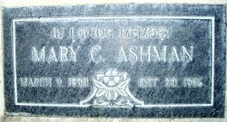 Mary <i>Cantarini</i> Ashman