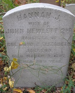 Hannah <i>Jackson</i> Hewlett