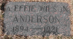 Agnes Evelyn <i>Wilson</i> Anderson