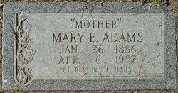 Mary E <i>Dunahoo</i> Adams