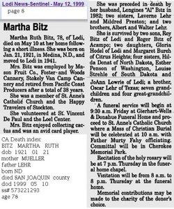 Martha Ruth <i>Lehr</i> Bitz