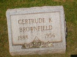 Gertrude Frances <i>Keefer</i> Brownfield