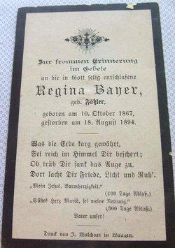 Regina <i>Faessler</i> Bayer