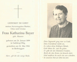 Katharina <i>Maurer</i> Bayer