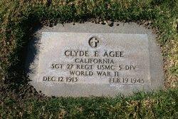 Clyde E Agee