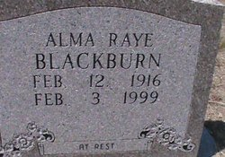 Alma Raye Blackburn