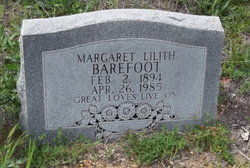 Margaret Liluth <i>Morris</i> Barefoot