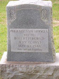 Pheraby Ann <i>Hodges</i> Rownd
