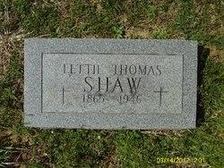 Lettie Thomas <i>Bolton</i> Shaw