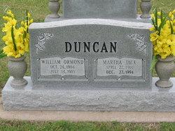Martha Jack <i>Hanks</i> Duncan