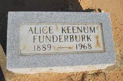 Alice <i>Keenum</i> Funderburk
