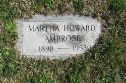 Martha H <i>Howard</i> Ambrose