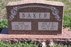 Rev J. D. Baker