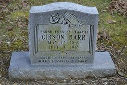 Sarah Frances Fannie <i>Gibson</i> Barr