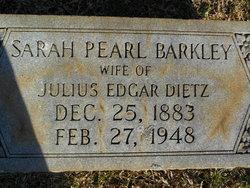 Sarah Pearl <i>Barkley</i> Dietz