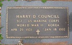Harry D Councill