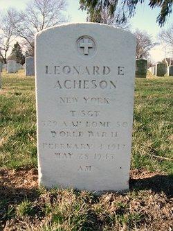 Sgt Leonard E Acheson