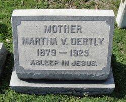 Martha V <i>Etheridge</i> Oertly