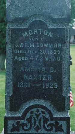 Amelia B <i>Bowman</i> Baxter