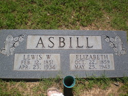 Elizabeth Lizzie <i>Hallman</i> Asbill