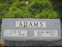 June <i>Boots</i> Adams