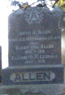Sarah Ann <i>Brown</i> Allen