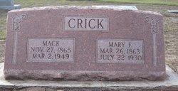 Mary Frances <i>Earp</i> Crick