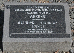 Waltruat Maria <i>Reichelt</i> Ahrens