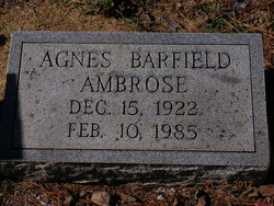 Agnes <i>Barfield</i> Ambrose