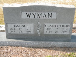 Hastings Wee Wyman
