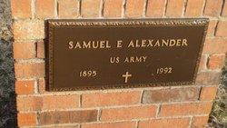Samuel E Alexander