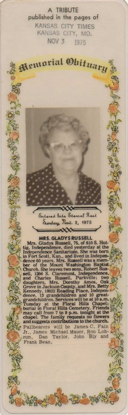 Gladys Irene <i>Chidester</i> Russell