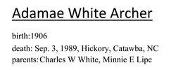Adamae <i>White</i> Archer