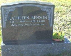 Kathleen <i>Swift</i> Benson
