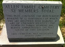 Clemmy Allen Family Cemetery