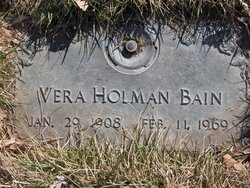 Vera <i>Holman</i> Bain