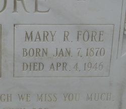 Mary Roberta <i>Burgess</i> Fore