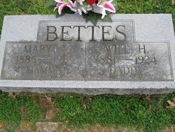 Mary E. <i>Waters</i> Bettes
