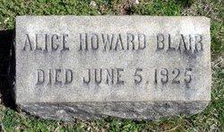 Alice <i>Howard</i> Blair