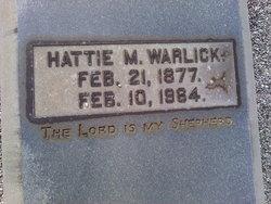 Hattie W <i>McAfee</i> Warlick