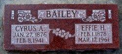 Effie Maud <i>Hawkins</i> Bailey