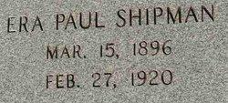 Era Paul Shipman