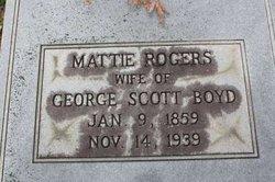 Martha M. Mattie <i>Rogers</i> Boyd