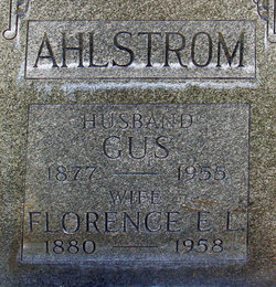 Florence Emily <i>Linney</i> Ahlstrom