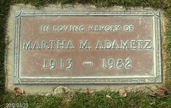 Martha M Adametz